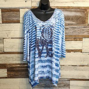 Style & Co Tops - STYLE & Co. LOVE Studded Tunic sz 1X